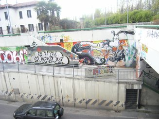 imboccatura sottopassaggio stradale e ciclo pedonale Brandolini 2011
